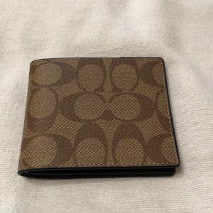 Brand new men's Coach bifold wallet.